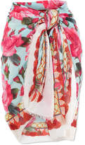 Dolce & Gabbana Printed Cotton-gauze Pareo - Pink