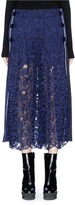 Sacai Pleated lace front culottes