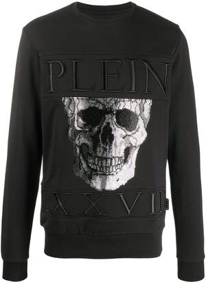 Philipp Plein Imperial Plein-print cotton sweatshirt