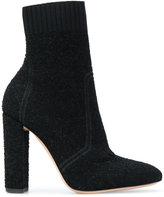 Gianvito Rossi Isa bouclé knit boots