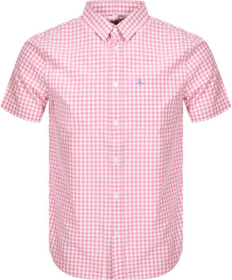 Jack Wills Short Sleeved Gingham Shirt Pink