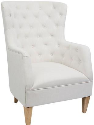 Sasson Home Anushka Armchair White Linen