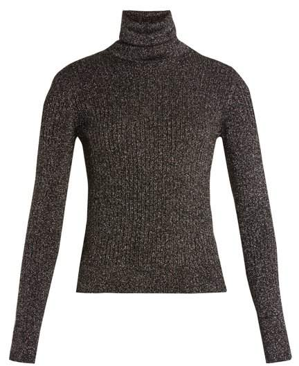 Saint Laurent Roll-neck ribbed sweater