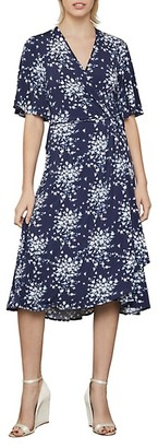 BCBGMAXAZRIA Floral-Print Faux Wrap Dress