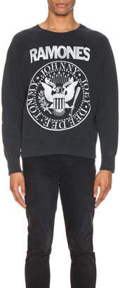 MadeWorn The Ramones Sweatshirt in Black Fade | FWRD