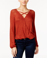 American Rag Mesh-Inset Surplice Top, Only at Macy's