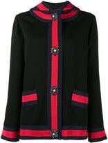 Gucci detachable LOVED hood jacket - women - Silk/Acrylic/Plastic/glass - 42