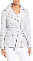 Kensie Women's Asymmetrical Quilted Jacket