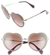 Miu Miu Women's 52Mm Round Sunglasses - Black