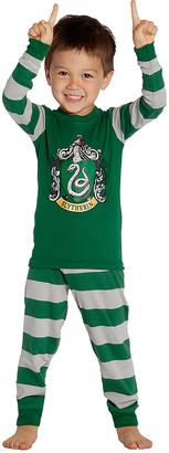 Intimo Sleep Bottoms P0056 - Harry Potter Green & Gray Slytherin Pajama Set - Toddler & Kids