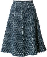 Sonia Rykiel Laser Cut Denim Skirt