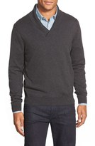 Nordstrom Cotton & Cashmere Shawl Collar Sweater (Regular & Tall)