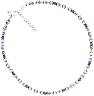 "American West Sterling 15""L Gemstone Bead Station Necklace"