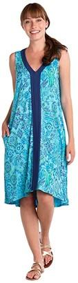 Fresh Produce Tropic Gardens Sabrina Dress (Bluefin) Women's Dress