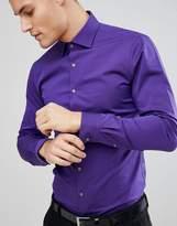 Michael Kors Slim Easy Iron Smart Shirt In Purple