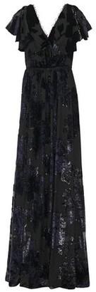 Marchesa Ruffled Metallic Devore-velvet Gown