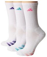 adidas Cushion Variegated 3-Pair Crew Sock Women's Crew Cut Socks Shoes