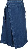 Sea denim wrap skirt - women - Cotton/Lyocell - 10