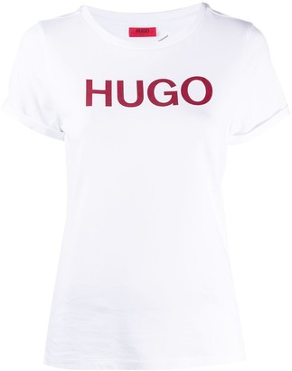 HUGO BOSS logo-print crew-neck T-Shirt
