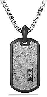 David Yurman Men's Meteorite Collection Inlay Dog Tag