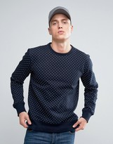 French Connection Crew Neck Polka Sweat Sweater