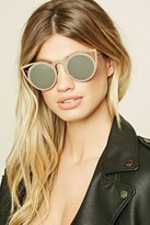 Forever 21 FOREVER 21+ Cat Eye Mirrored Sunglasses