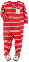Carter's 1-Pc. Striped Monkey-Pocket Footed Pajamas, Baby Boys (0-24 months)