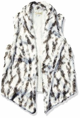 La Fiorentina Women's Spotted Faux Fur Open Vest