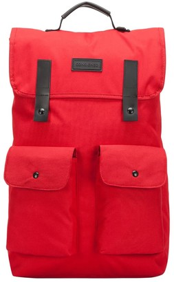 Consigned Twin Front Pocketed Backpack Red