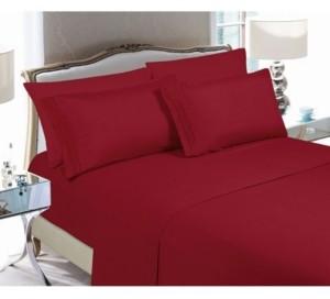 Elegant Comfort 6-Piece Luxury Soft Solid Bed Sheet Set Queen Bedding
