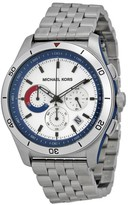 Michael Kors MK8373 Outrigger Silver Dial Stainless Chronograph Mens Watch