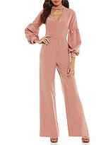 Gianni Bini Reese Choker Neck Bubble Sleeve Jumpsuit