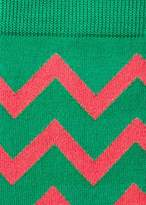 Paul Smith Men's Green Bright Zig-Zag Socks