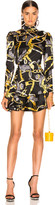 Alessandra Rich Jewelry Print Mini Dress in Black | FWRD