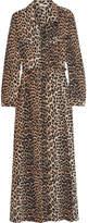 Ganni Leopard-print Silk Maxi Dress