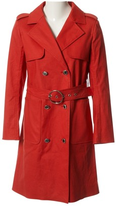 Courreges Red Cotton Coat for Women