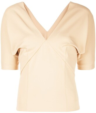 Haider Ackermann V-neck draped blouse