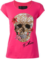 Philipp Plein skull print T-shirt - women - Cotton - M