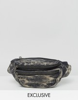 Reclaimed Vintage Inspired Bumbag In Bleached Black