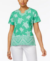 Alfred Dunner Bahama Bays Beaded Top