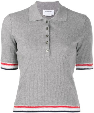 Thom Browne Stripe Detail Polo Top
