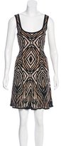 Torn By Ronny Kobo Sleeveless Jacquard Dress