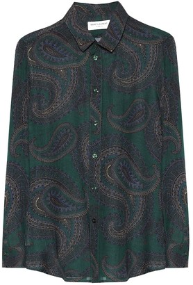 Saint Laurent Paisley wool shirt