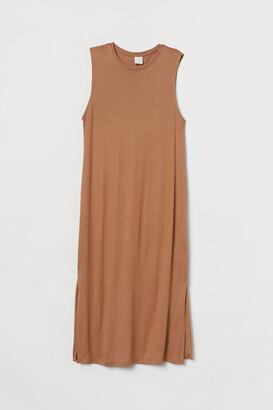 H&M Sleeveless Jersey Dress - Beige