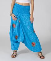 Aller Simplement Blue Geometric 3-in-1 Pants