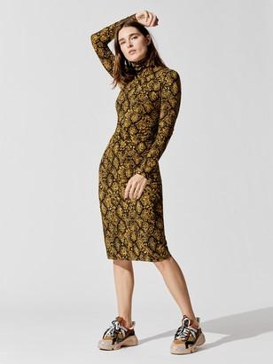 Proenza Schouler Sheer Stretch Jersey Turtleneck Dress