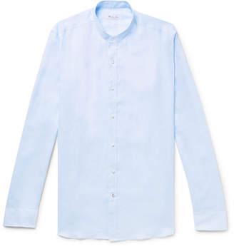 Loro Piana Alvin Slim-Fit Grandad-Collar Slub Linen Shirt