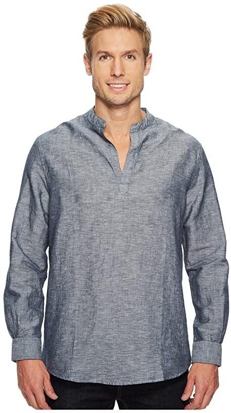 0c2854db664f Perry Ellis Blue Linen Men's Shirts - ShopStyle