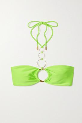 Cult Gaia Allie Embellished Halterneck Bikini Top - Bright green