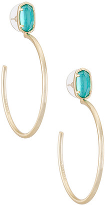 Kendra Scott Small Stone Pepper Hoop Earring